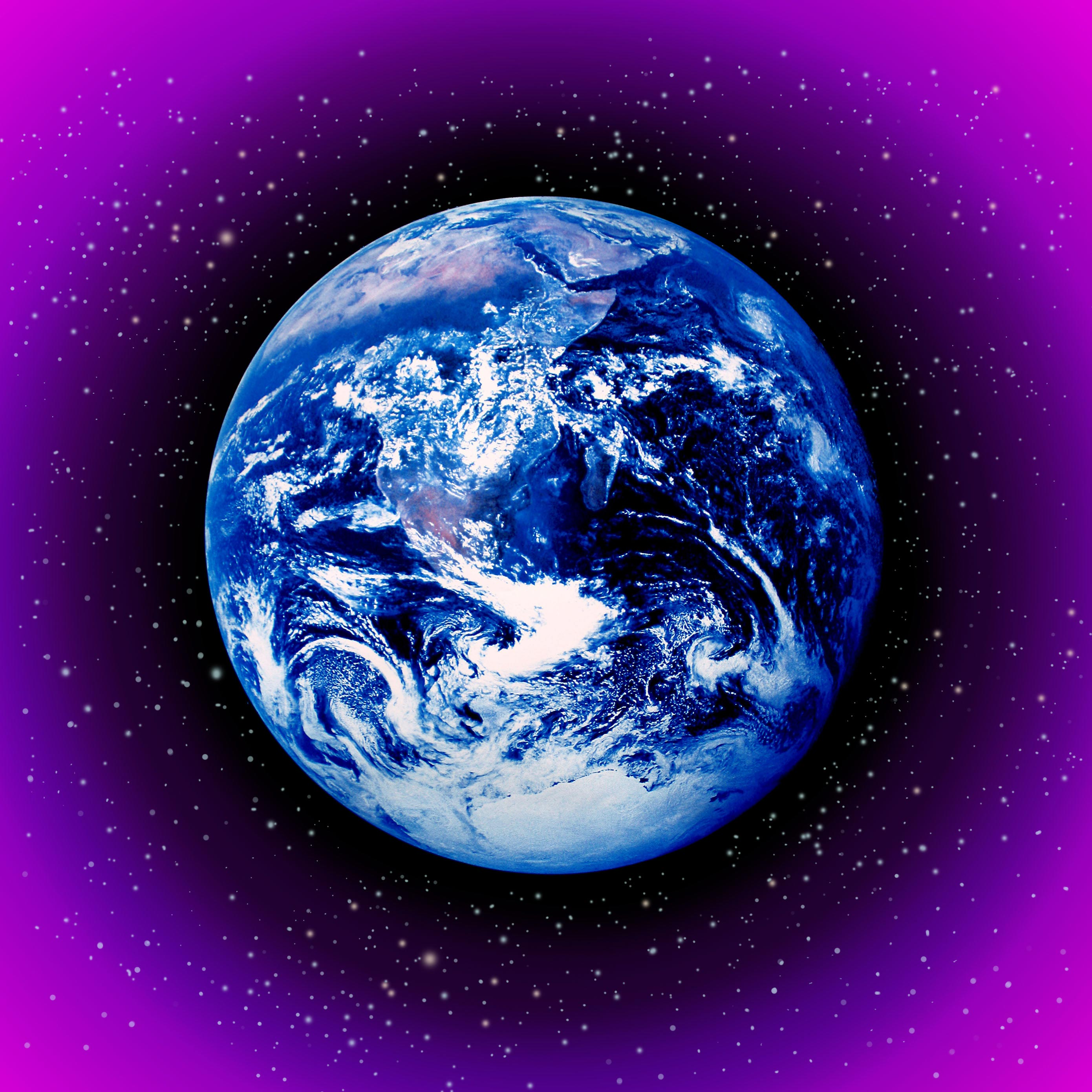 Image of planet Earth that can be used for visualization during the sixth stage.
